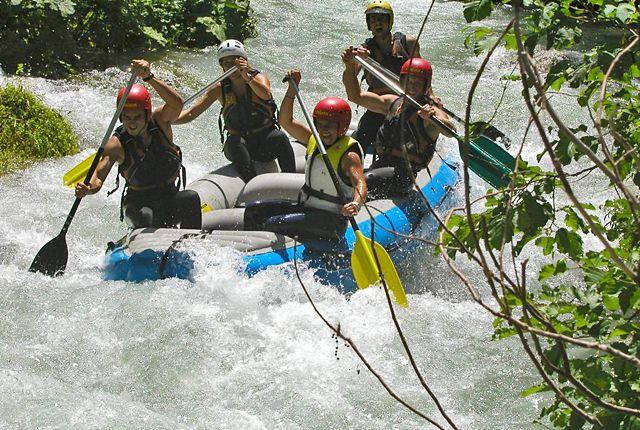 Rafting lungo il fiume Corno