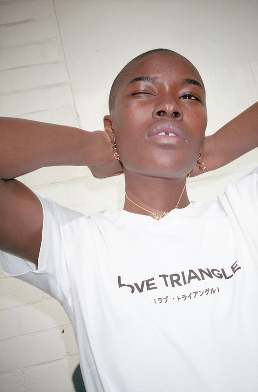 Love Triangle t-shirt by Local Girl Gang