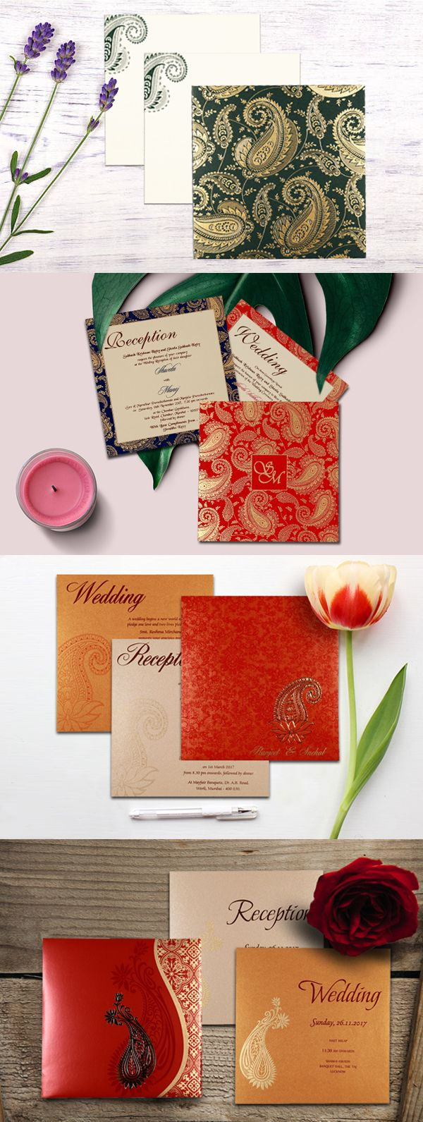 muslim wedding invitations mumbai%0A  Paisley Designs  Wedding Invitations  WeddingCards  IndianWeddingCards
