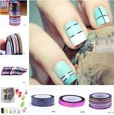 Couleurs Striping Tape Fil Bande Autocollant Sticker Nail Art Ongles ...