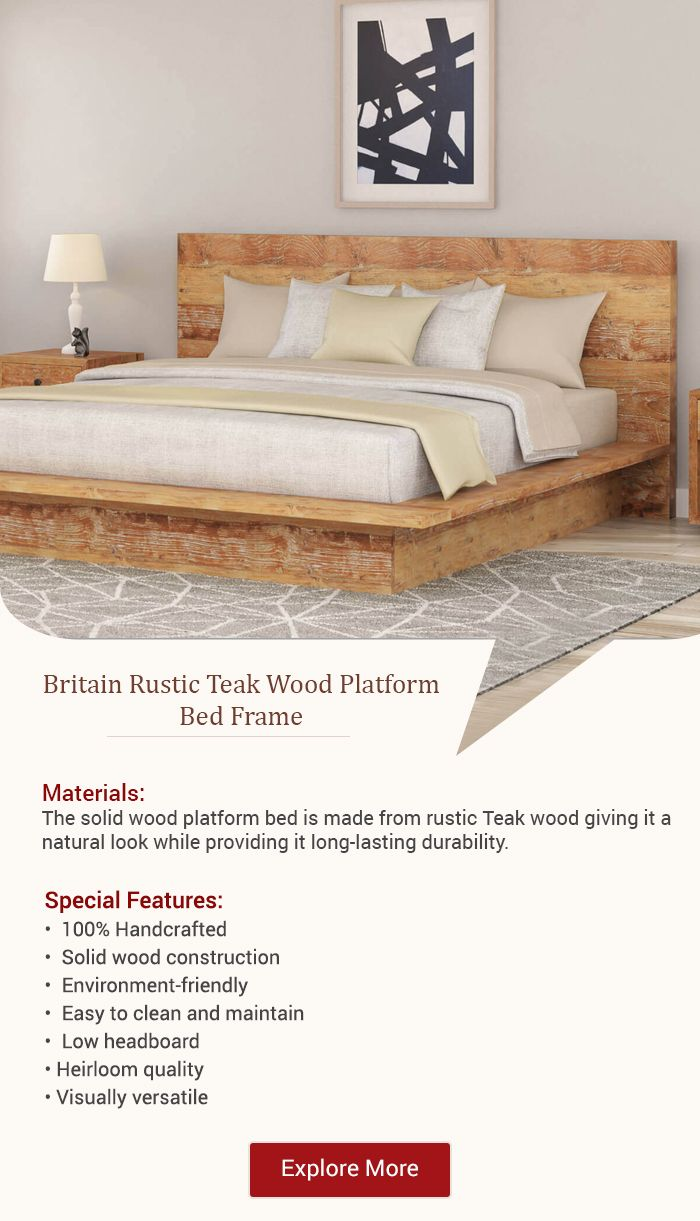 Sturdily Constructed From Rustic Teak Wood The Britain Rustic