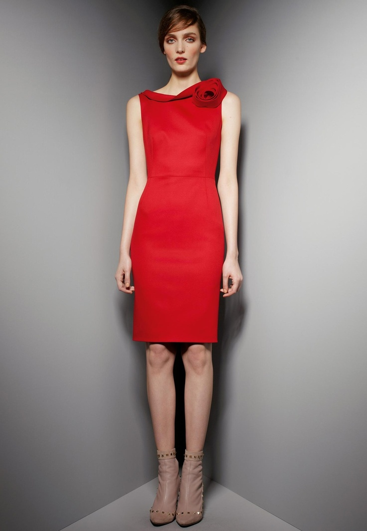 Couture Rose-Shoulder Dress by Valentino