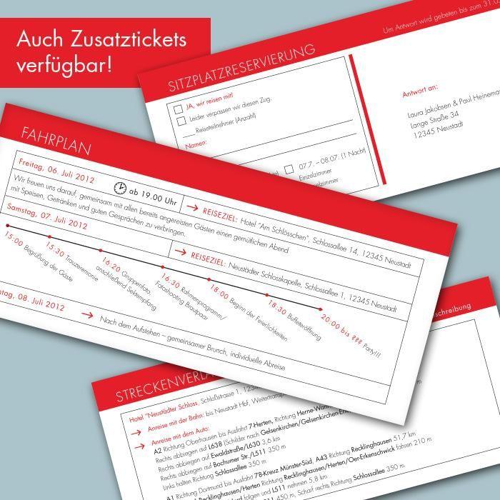 Bahnticket - Zusatzkarten