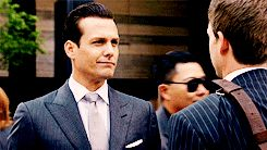 "Don't wear a damn skinny tie to work | Community Post: 19 Life Lessons One Learns From ""Suits"" OMG THAT LOOK IS CLASSIC HARVEY, CAN'T SAY I HAVEN'T GIVEN SOMEONE THAT ONE!! MMMM DELISH EVEN WHEN YOU ARE ANGRY"
