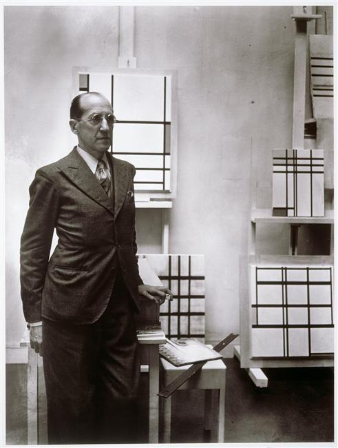 Piet (Pieter Cornelis ) Mondrian. Paris, 1937. Photographed by Rogi André.  Musée National d'Art Moderne - Centre Georges Pompidou.