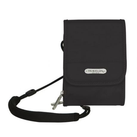 The Travelon Antitheft Travel Wall features a locking main compartment and a RFID blocking card centre. The slash-proof construction and adjustable, cut-proof shoulder strap makes it durable and tough to steal as well.
