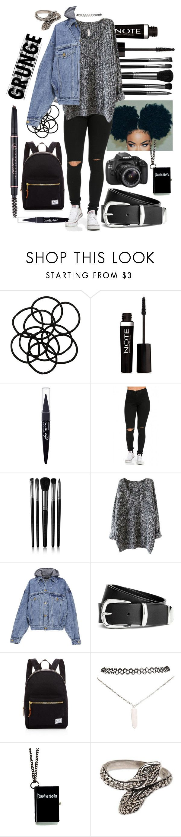 """""""Untitled #628"""" by the-fashion-fantasy ❤ liked on Polyvore featuring Monki, Forever 21, Maybelline, Illamasqua, Fear of God, H&M, Herschel Supply Co., Wet Seal, Eos and NOVICA"""