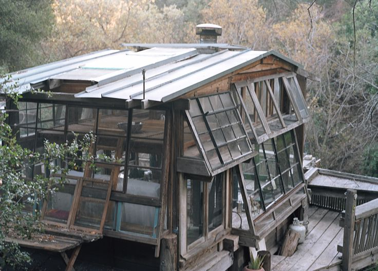 - Topanga Canyon, CA, using windows to build thisTree House