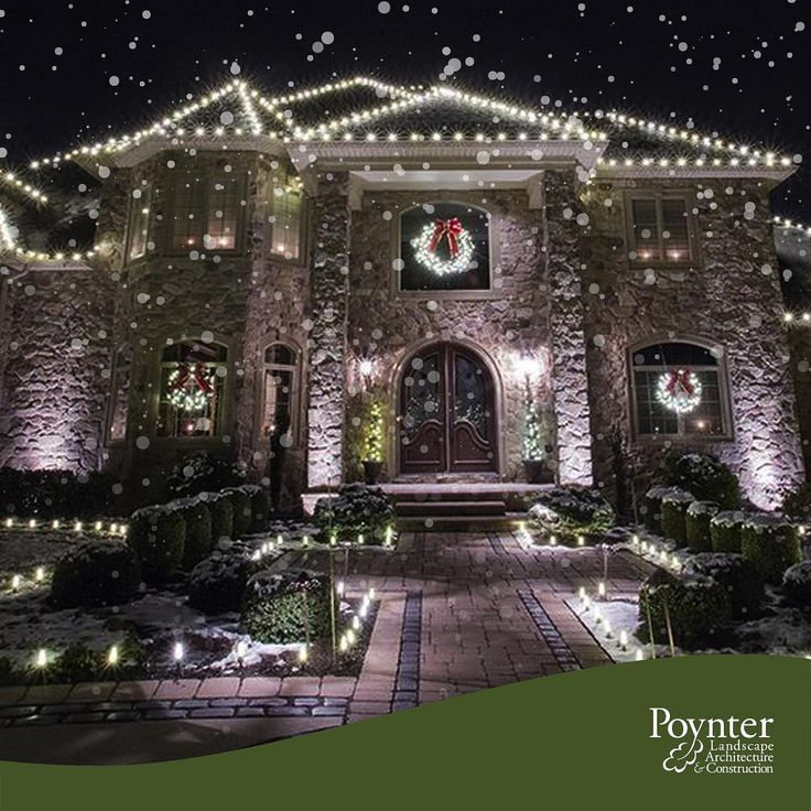 Check out these holiday landscape lighting design