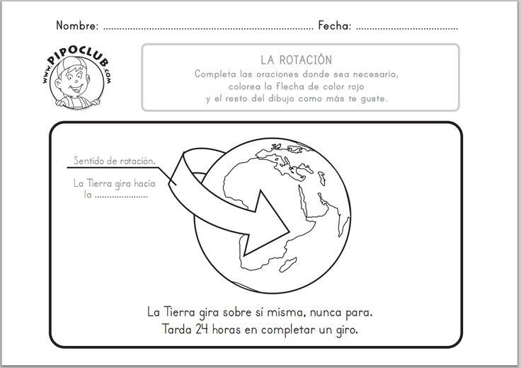 JUEGOS EDUCATIVOS PIPO: LA ROTACIÓN DE LA TIERRA