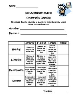 Cooperative Learning Self-Assessment Rubric