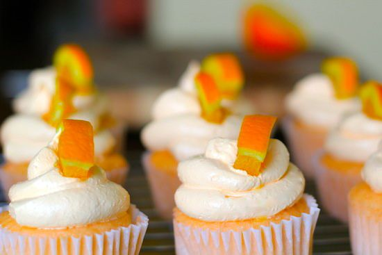 Healthy Orange Dreamsicle cupcakes....yum!