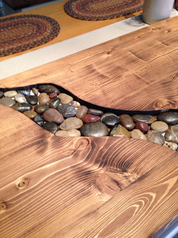 Our New Riverbed Counter Top Ready For Epoxy Love It ️