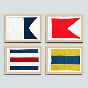 Suzanne Kasler Seafarer Nautical Flags