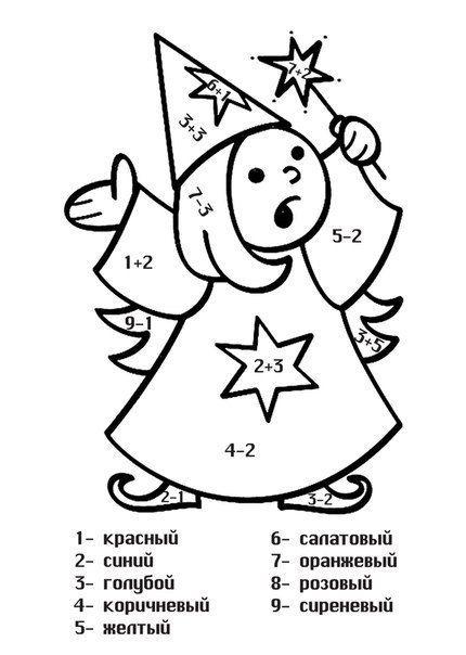 Раскраски математика таблица умножения