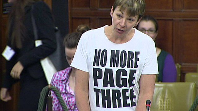 Caroline Lucas debates media sexism in Houses of Parliament – and is told to cover up her NMP3 tee! http://www.bbc.co.uk/news/uk-politics-22873790