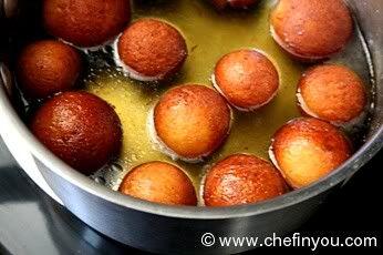 Indian Dessert Gulab Jamuns - Milk Sweet
