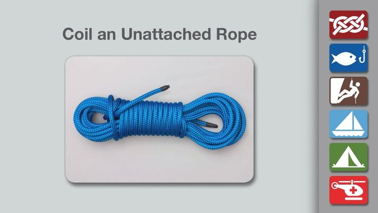 Coiling Rope | How to Coil Rope (Unattached) | knots ...