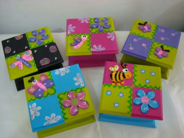 Cajitas de recordatorio manualidades pinterest cajas - Cajas de madera manualidades ...