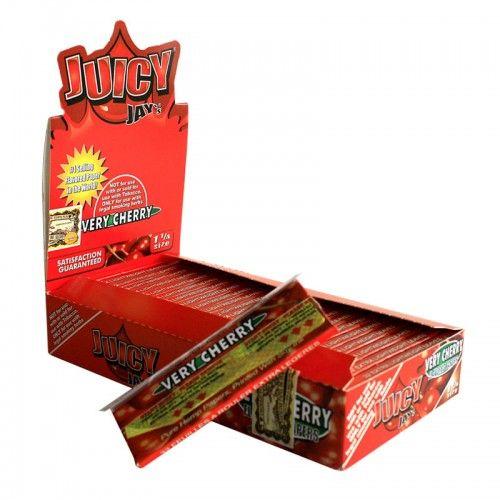 Tα χαρτάκια Juicy Jays very cherry μεσαίου μεγέθουςείναι τα μοναδικά τσιγαρόχαρτα με αληθινή γεύση και άρωμα κερασιού από το πρώτο μέχρι το τελευταίο φύλλο.Τα προϊόντα Juicy Jays κατασκευάζονται με το περίφημο σύστημα triple-dip για επιπλέον γεύση.
