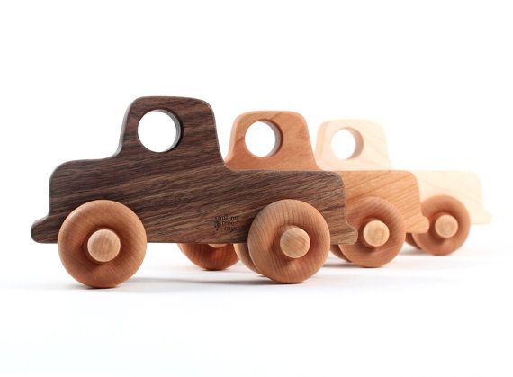 organic toy truck a natural wooden toy and by SmilingTreeToys, $14.00