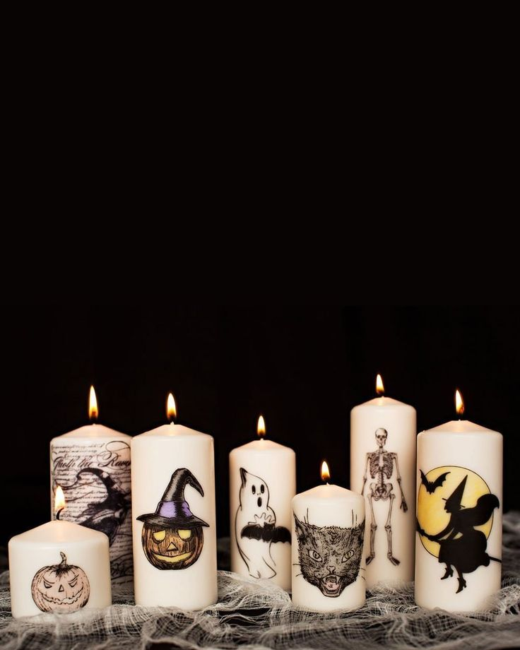 How to make decorative diy halloween candles