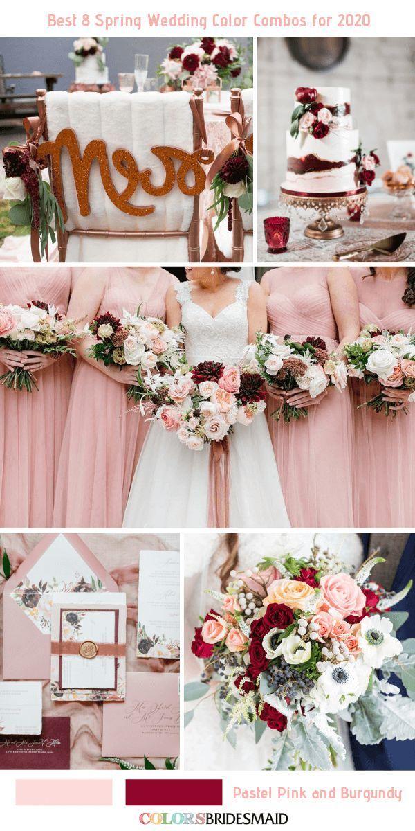 Best 8 Spring Wedding Color Combos for 2020 Pastel pink