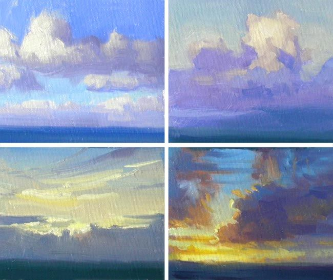 """Cloud Studies"" Oil on Canvas by Richard Robinson - Click to see the Demo Video"