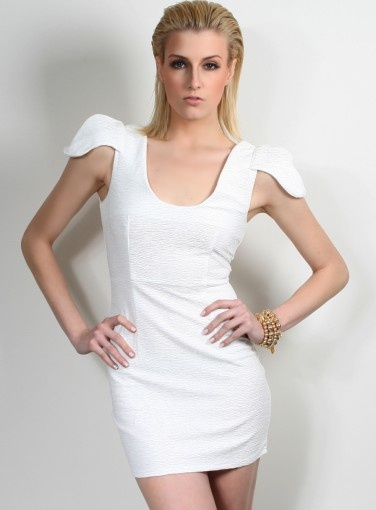 Power Control Dress #goshcelebrity #white #dress #black #fashion #style #partydress