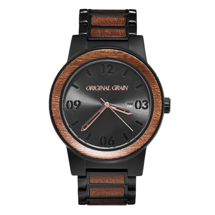 FEATURES All Natural Inlaid Sapele Bezel  Mineral Crystal Glass (Scratch Resistant) Matte Black 316L Stainless Steel Japanese Miyota Quartz Movement Water...