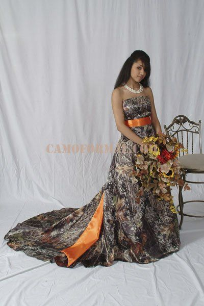Ok. Not the camo dress, but the bouquet.
