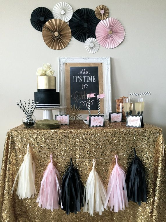 Hey, I found this really awesome Etsy listing at https://www.etsy.com/listing/206263325/black-blush-gold-sparkle-celebration