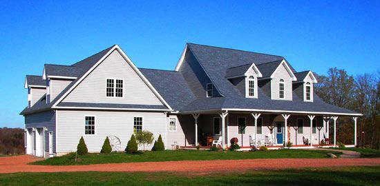 The oakmont donald a gardner architects inc country for Country homes to build