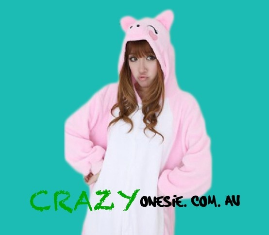 Pig Onesie. 25% off EVERYTHING in store. Free Express Delivery Australia-wide. Visit www.crazyonesie.com.au for more details. Visit our Facebook page https://www.facebook.com/crazyonesie for exclusive competitions and discounts