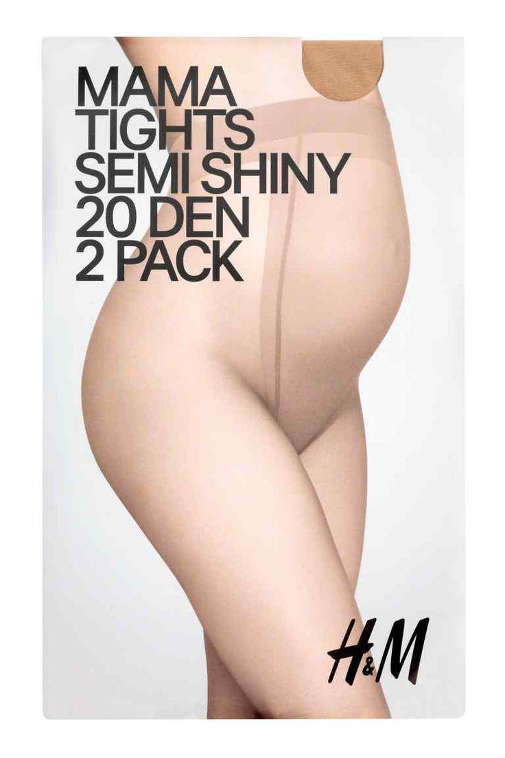 MAMA, 2ks pančuch. nohavíc - béžová - ŽENY | H&M SK 1