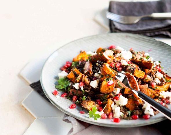 Spicy lamb with roasted sweet potatoe - Mausteista karitsaa paahdetulla bataatilla, resepti – Ruoka.fi
