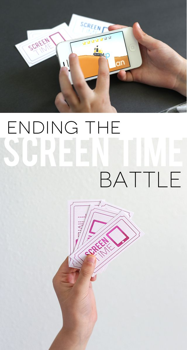 ending the screen time battle free download printable tickets for kids using the heidiswapp minc