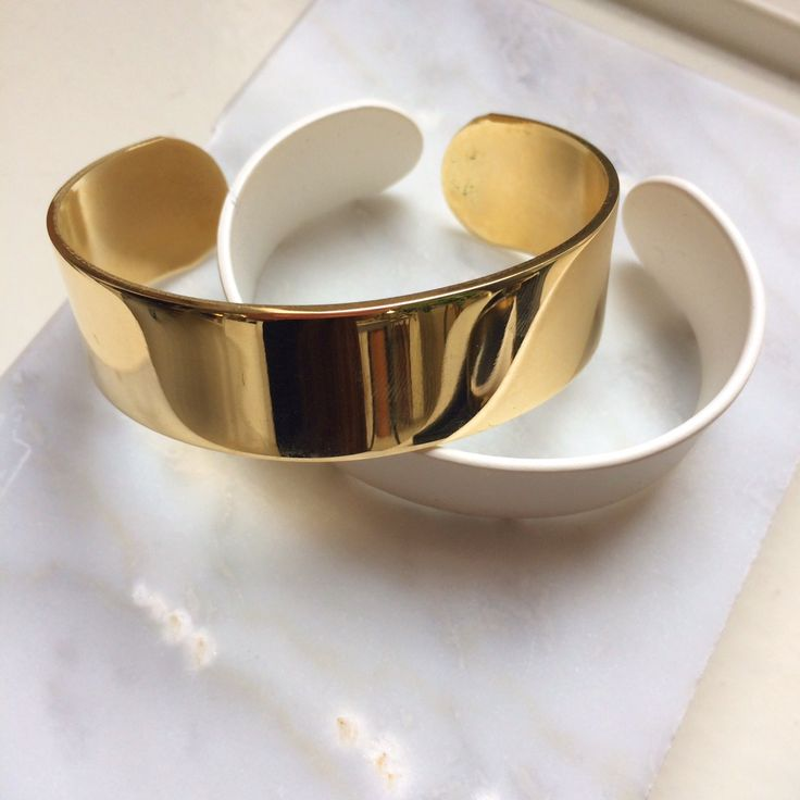 A Y M Gold & White Bracelets