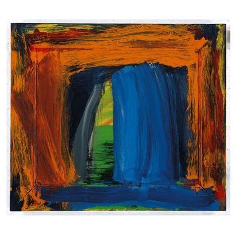 Howard Hodgkin, Navy Blue on ArtStack #howard-hodgkin #art