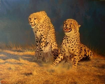 The stand-off  Oil on canvas  by Robert Koch