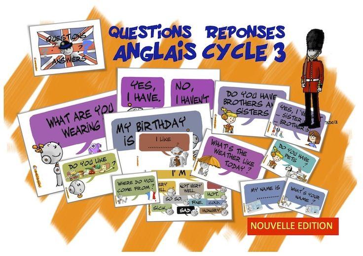 Jeu de questions réponses . Anglais cycle 3 . Bout de gomme