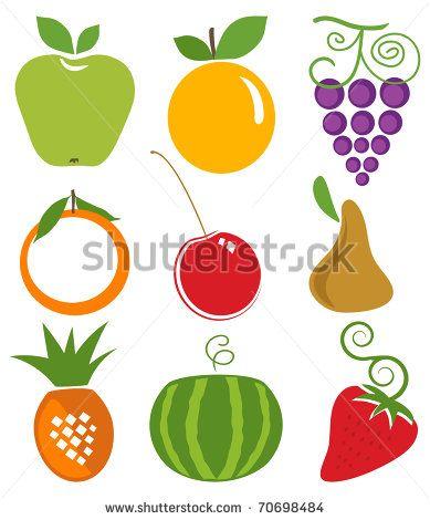 stock-photo-stylized-fruits-icons-on-white-background-70698484.jpg (389×470)