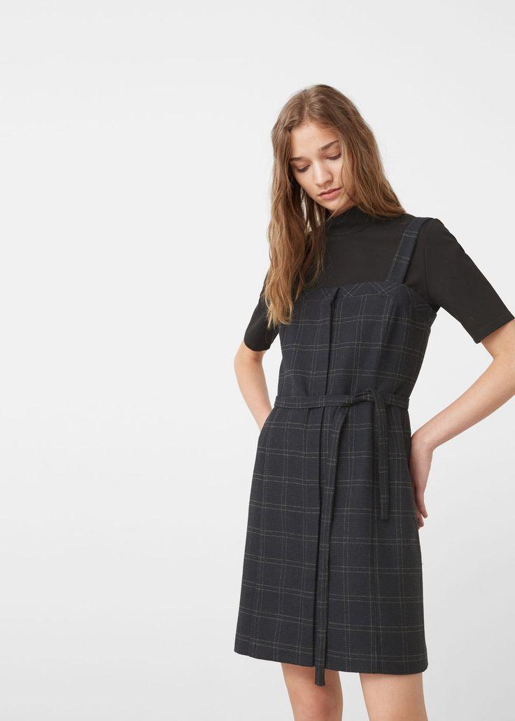 Sukienka w kratę | MANGO