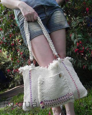 Carteras y bolsos tejidos a telar. ¡Pensadas para el verano y las vacaciones!