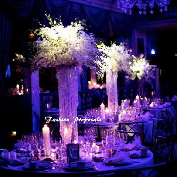 Set Of 10 Table Top Chandelier Centerpiece By Fashionproposals 699 00