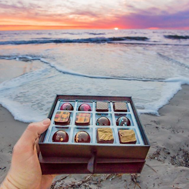 CARPE KOKO! chocolates make a perfect end to an amazing day! Image from Instagram user @benheide_photography