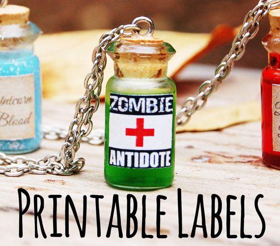 Zombie Survival Kit DIY Bottle Necklace by HeavenInARageCrafts