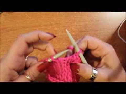 Chiusura semplice e tubolare - Tutorial maglia ai ferri - YouTube