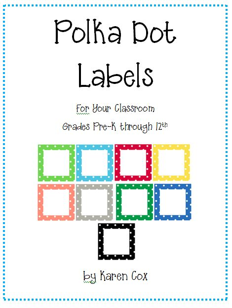Jackpot!  Free Polka Dot Labels of all sizes and colors :)