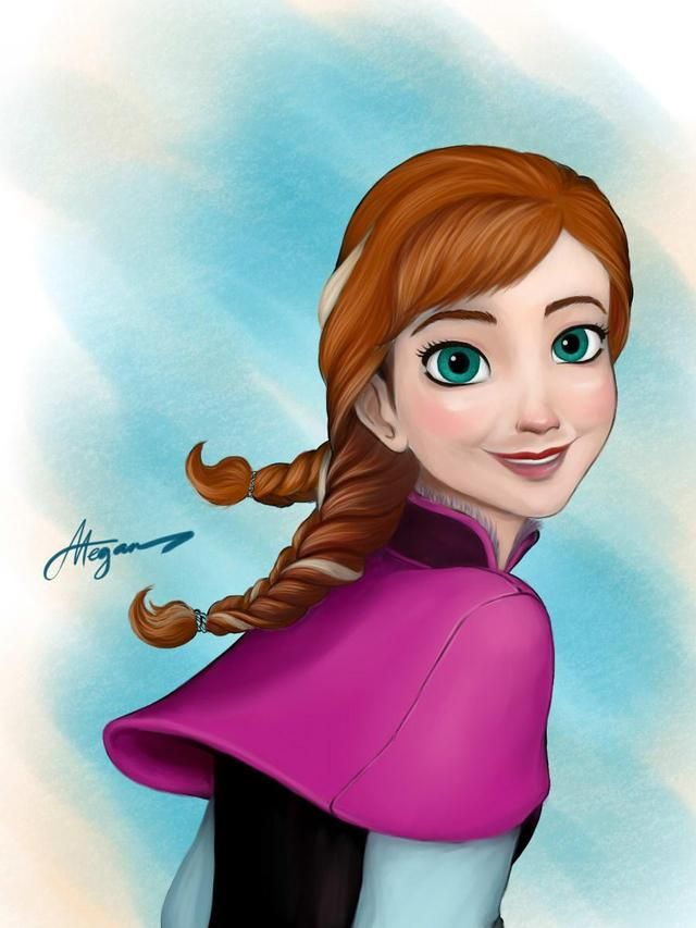 Digital art I made.. ANNA from Disney's FROZEN #megan #anna #frozen